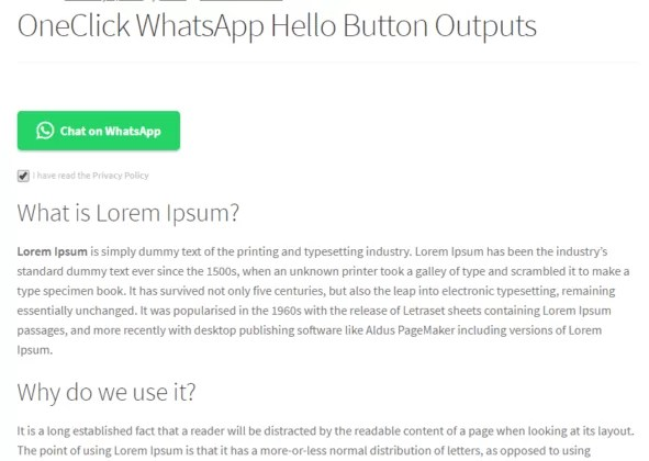 OneClick WhatsApp Hello - 5