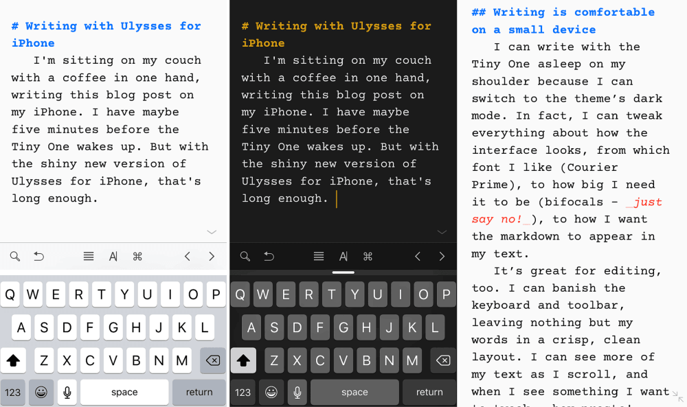 aplikasi iPhone untuk blogger - Ulysses