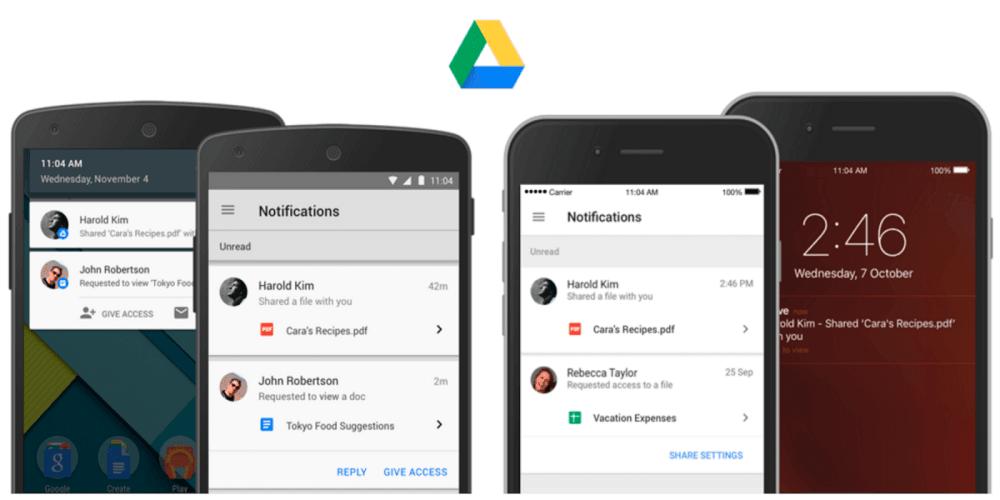 aplikasi iPhone untuk blogger - google drive