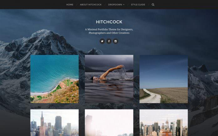 hitchcock - theme wordpress terbaik untuk personal blogger
