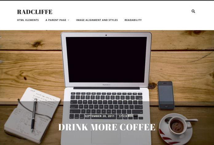 radcliffe - theme wordpress terbaik untuk personal blogger