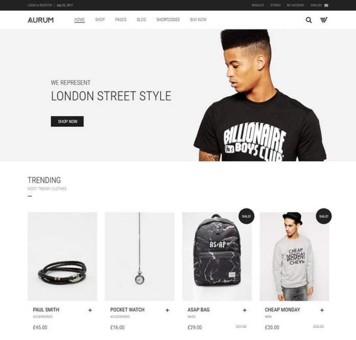theme WordPress untuk toko online - aurum
