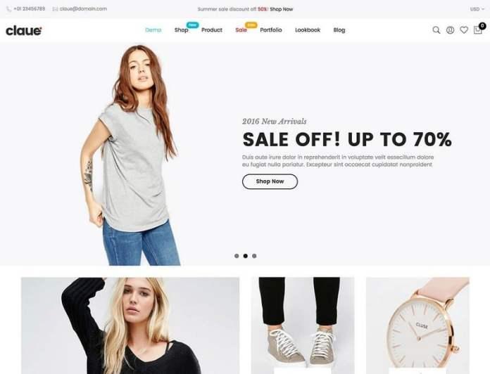 theme WordPress untuk toko online - claue
