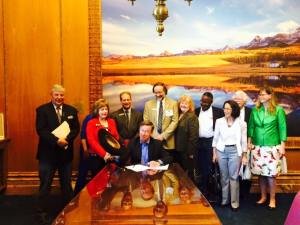 Governor Hickenlooper signs HB 15-1033 last week.