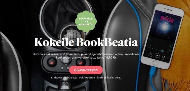 Bookbeat kuukauden ilmainen kokeilu 1kk