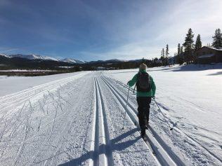 Cross-country skiing at Devil's Thumb Ranch