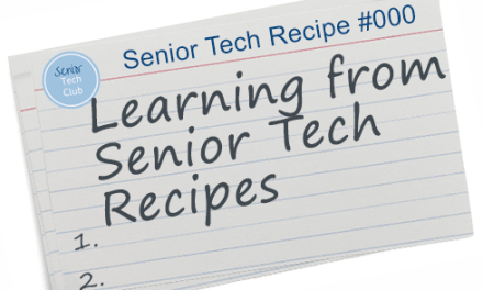 Learning from Senior Tech Recipes