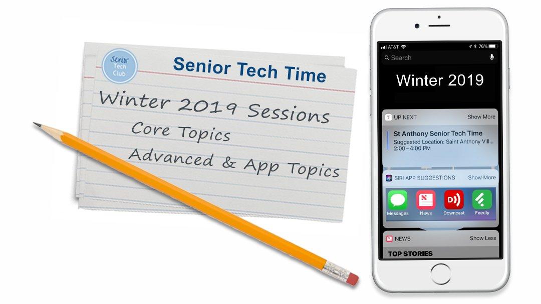 St Anthony Senior Tech Time Winter 2019