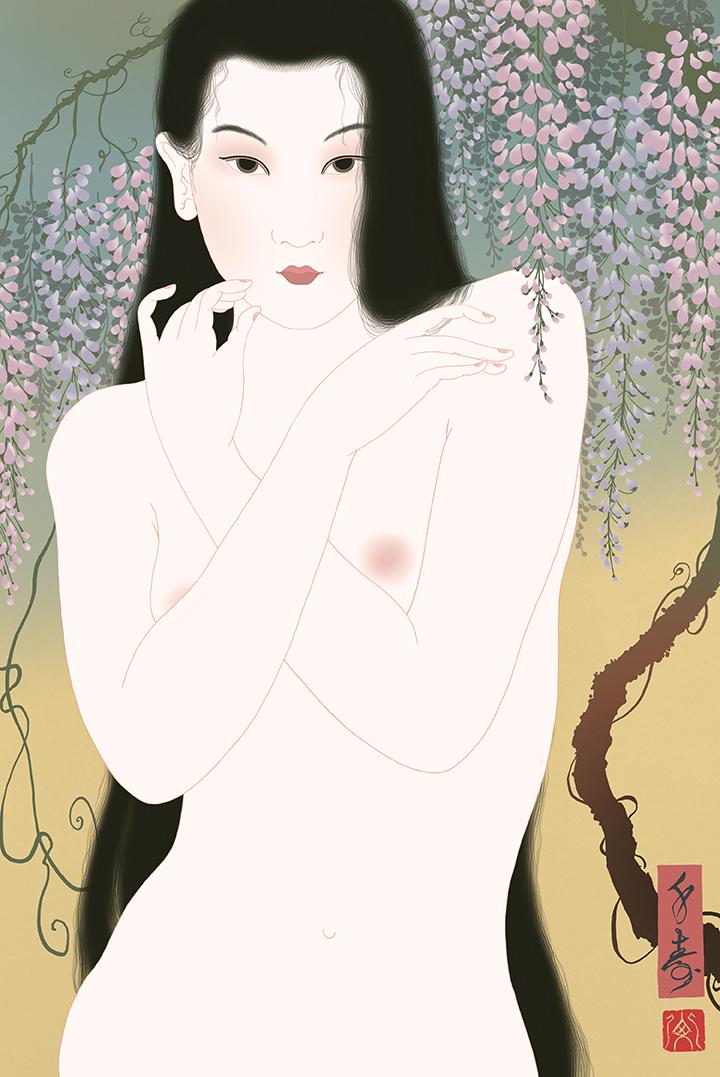 """Fuji"" Shunga print"