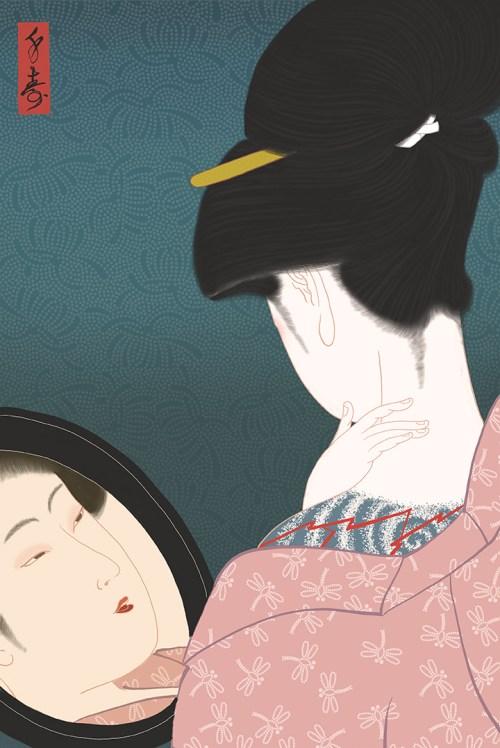 Shunga,erotic, sensual, utamaro, pornography, porn, irezumi, japanese tattoo
