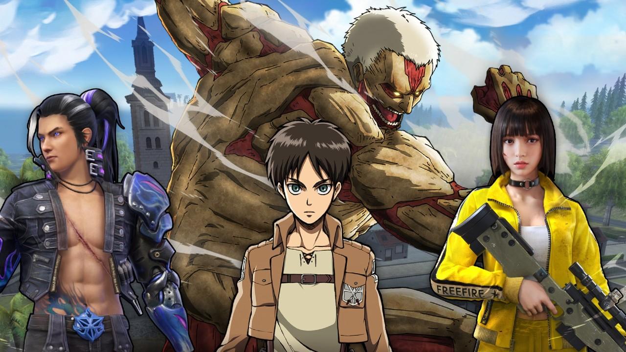 Los personajes de Attack on Titan llegarán a Free Fire en su próximo evento