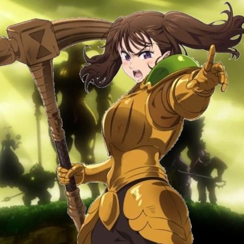 Cosplay Nanatsu no Taizai armadura Diane