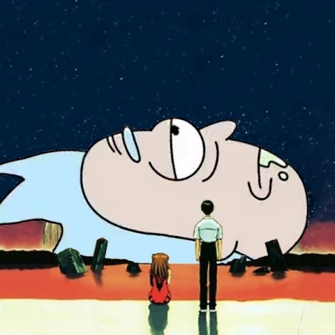 Rick and Morty anime parodia evangelion naruto