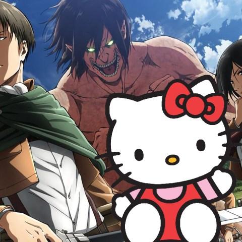 Hello Kity Sanrio colaboración Attack on Titan anime