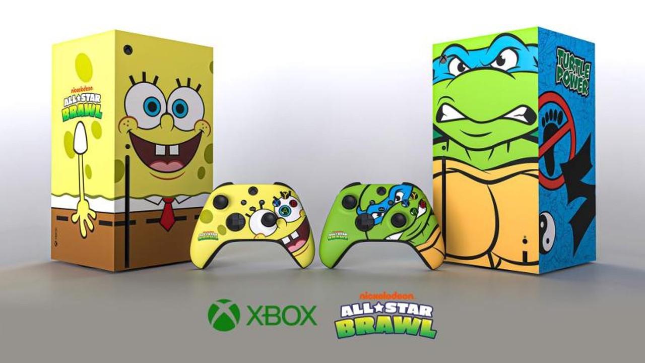 Consolas Xbox Series X de Bob Esponja y Leonardo