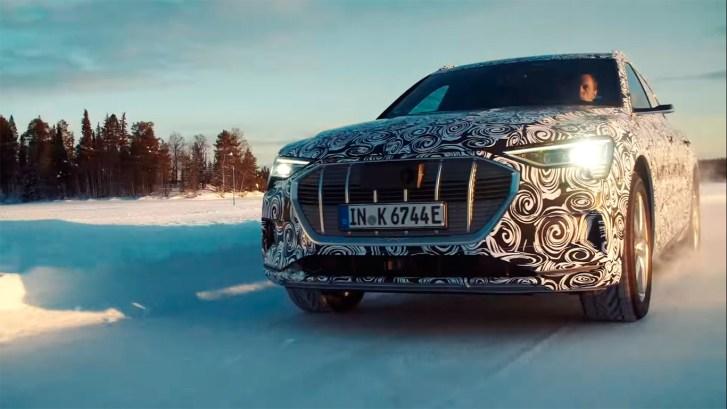 Frontal Izquierdo e tron sportback - El Audi e-tron Sportback, se deja ver por primera vez en vídeo
