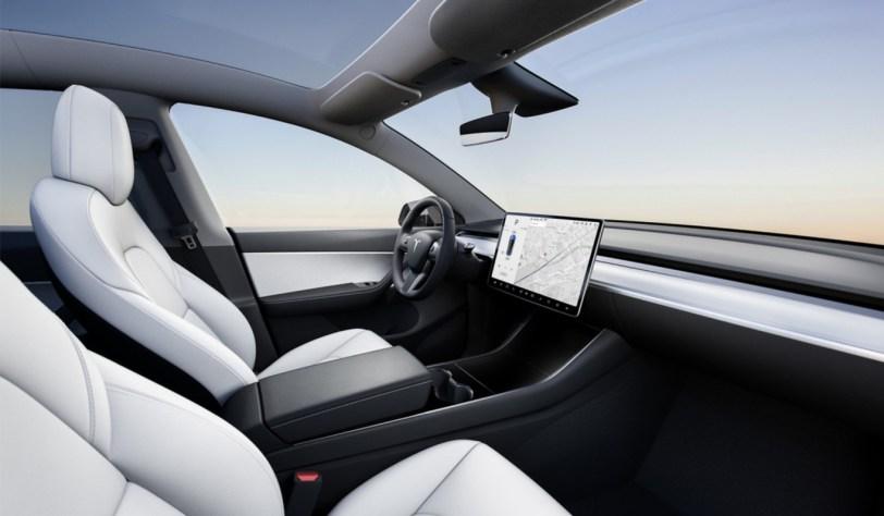 Interior Tesla Model Y - El nuevo Tesla Model Y se empezará a vender en 2020 en EE.UU.