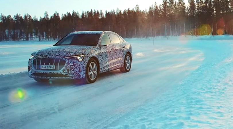 Lateral e tron Sportback - El Audi e-tron Sportback, se deja ver por primera vez en vídeo
