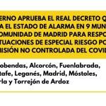 Estado de alarma en Madrid: Sin confinamiento, pero con restricciones de movilidad entre municipios