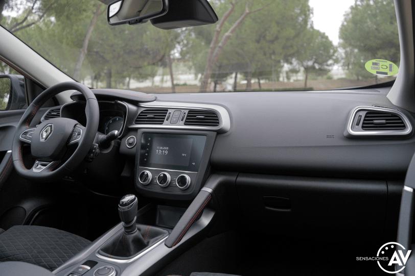 Salpicadero vista trasera derecha Renault Kadjar - Prueba Renault Kadjar Black Edition Blue 1.7 dCi 150cv 4x4