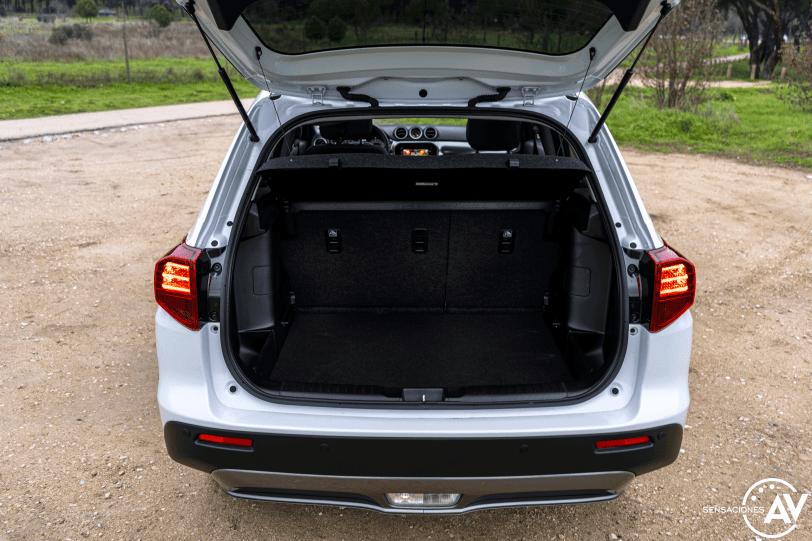 Maletero ampliado Suzuki Vitara - Prueba Suzuki Vitara GLX 4x4 Mild Hybrid: Un 4x4 honesto muy capaz