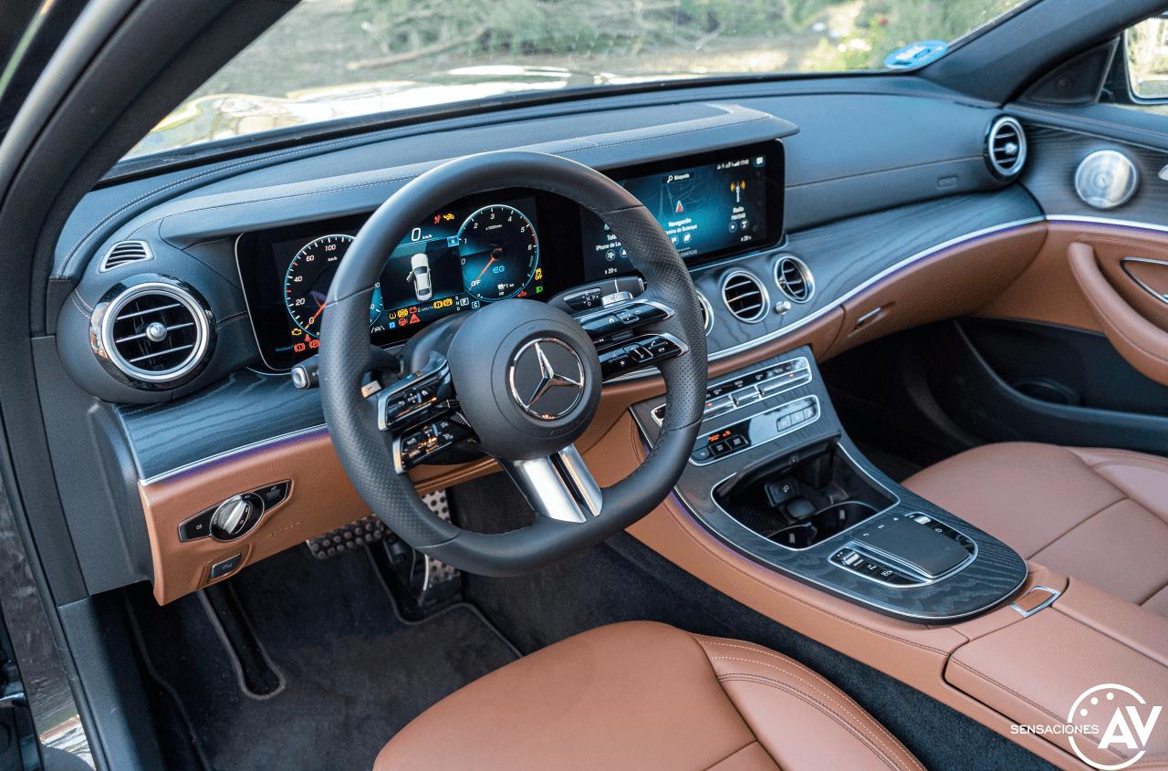 Salpicadero vista izquierda Mercedes Benz Clase E 300 de - Prueba Mercedes-Benz Clase E 300 de: Diésel y PHEV ¿Una combinación ganadora?
