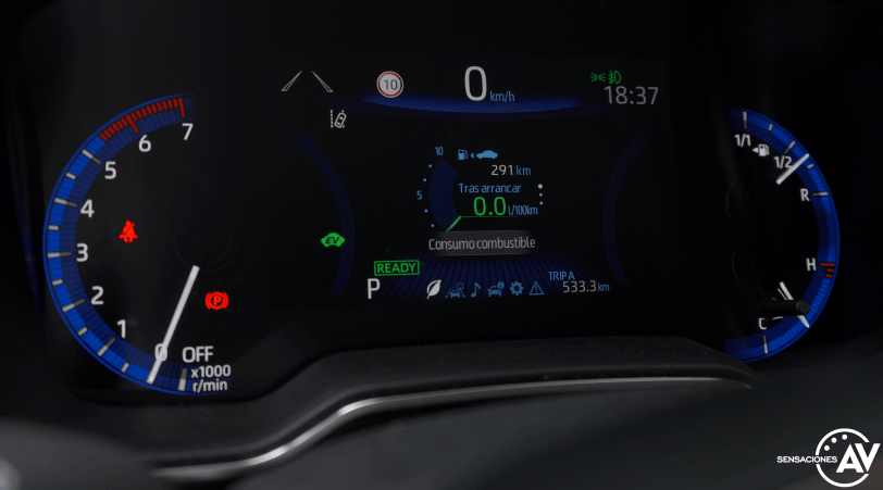 Tacometro 2 Toyota Corolla - Prueba Toyota Corolla Active Tech 125H 2021: ¿El candidato perfecto? ¿Un Golf Killer?