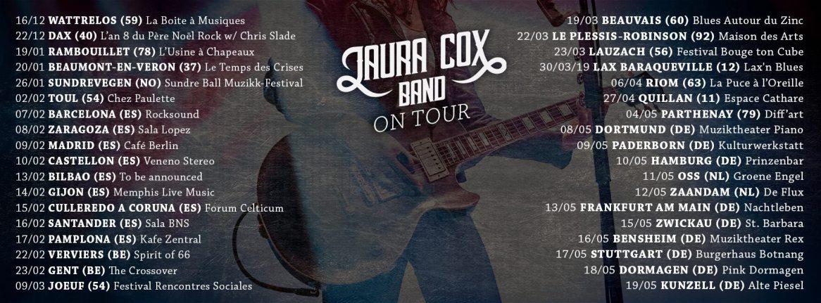 Laura Cox tour 2019