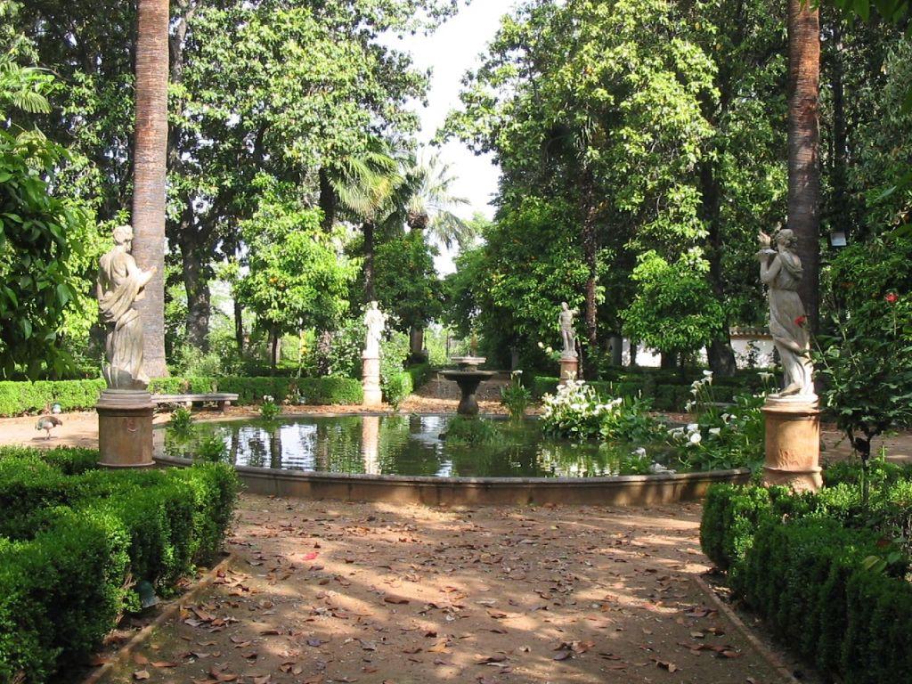 Le jardin de Los Martires, a Grenade