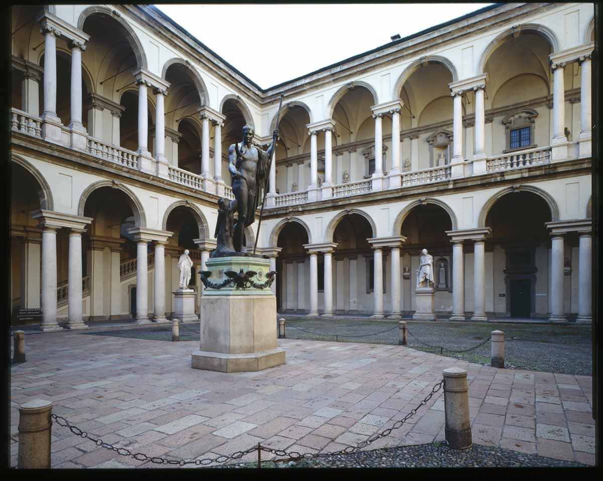 white in the city Pinacoteca di Brera