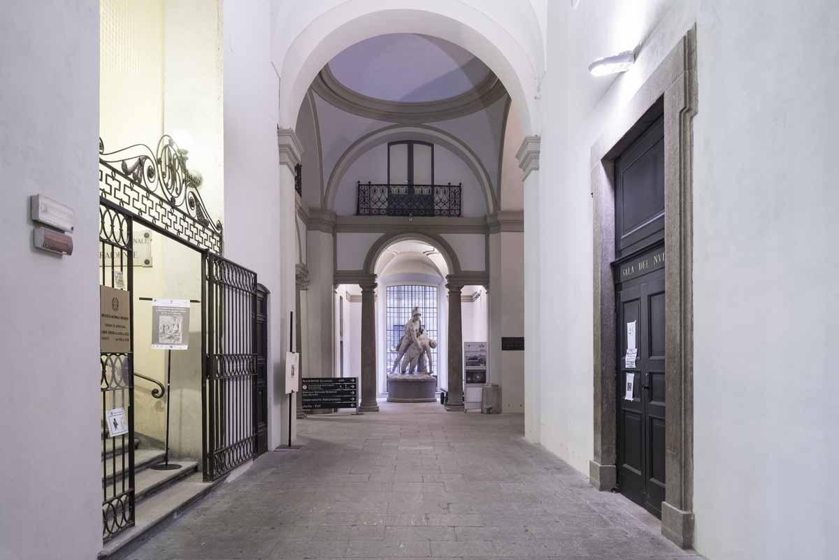 Accademia di Brera white in the city