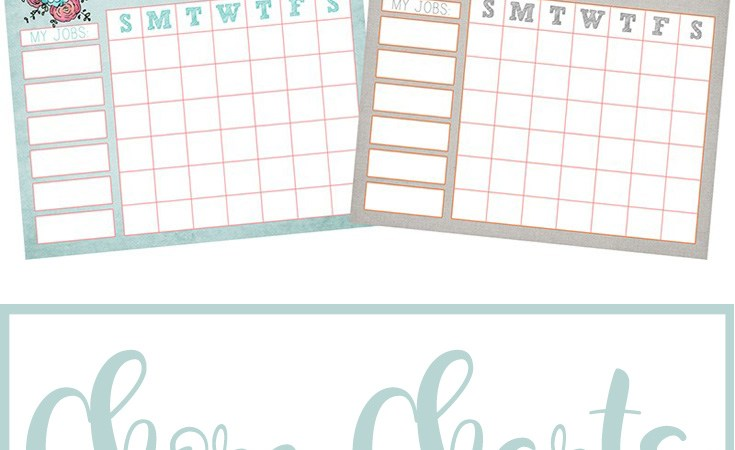 Chore Charts for Kids {FREE Printables}