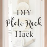 DIY Wall Plate Rack {IKEA Hack}