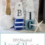 Diy Nautical Wood Buoys Sense Serendipity Summer Decor