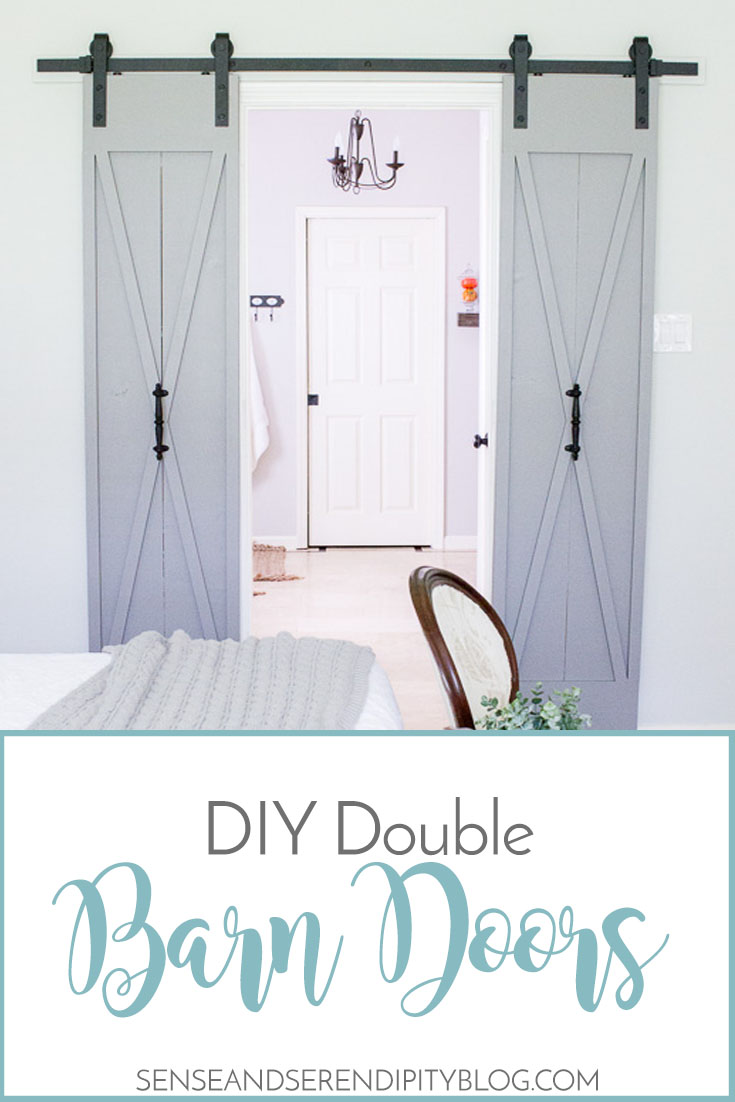 DIY Double Barn Doors | Sense & Serendipity
