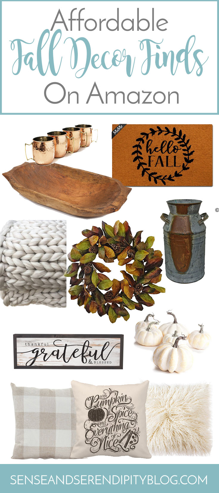Affordable Fall Decor Finds on Amazon | Sense & Serendipity