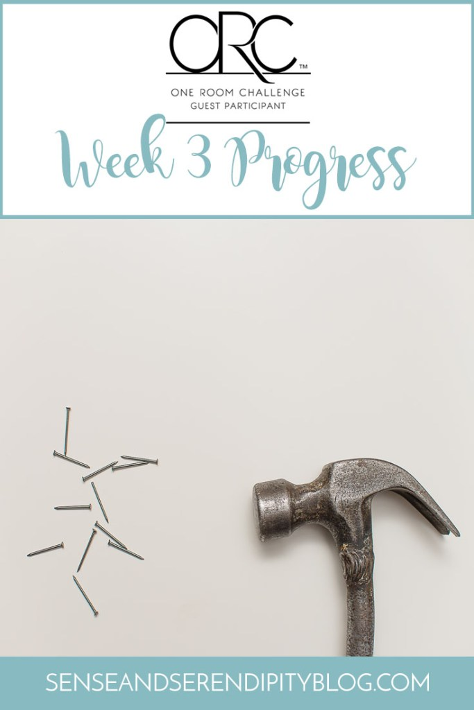 One Room Challenge, Week 3: Fun with Nail Guns