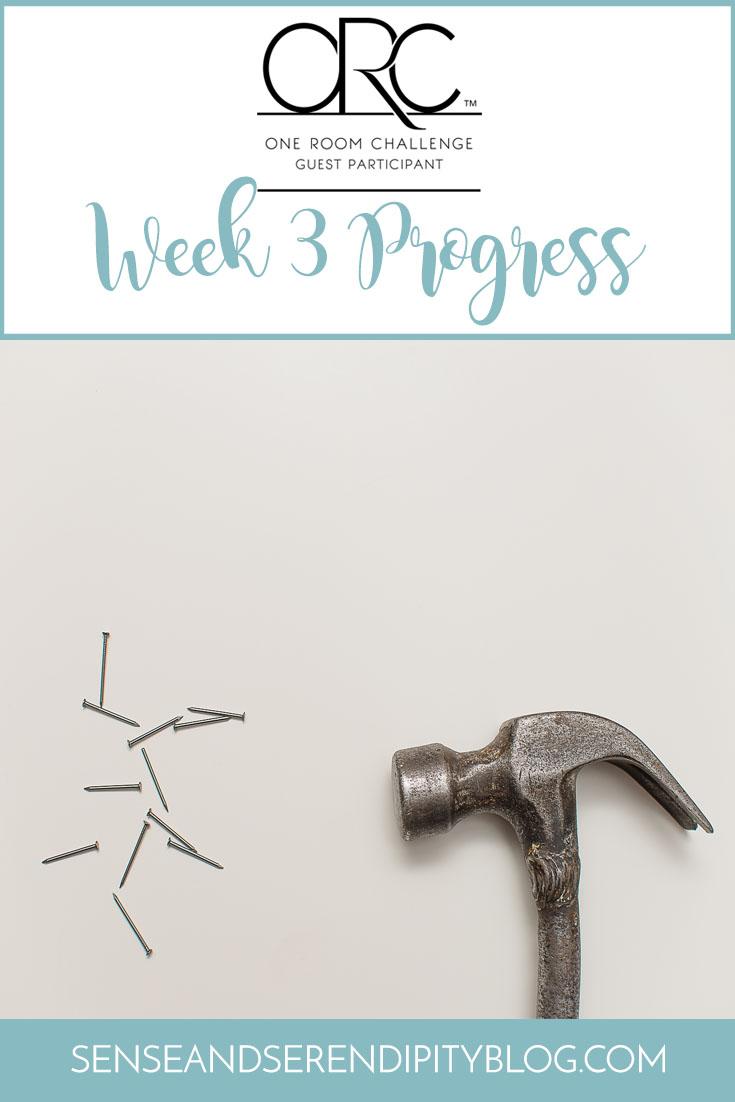 One Room Challenge, Week 3: Fun with Nail Guns