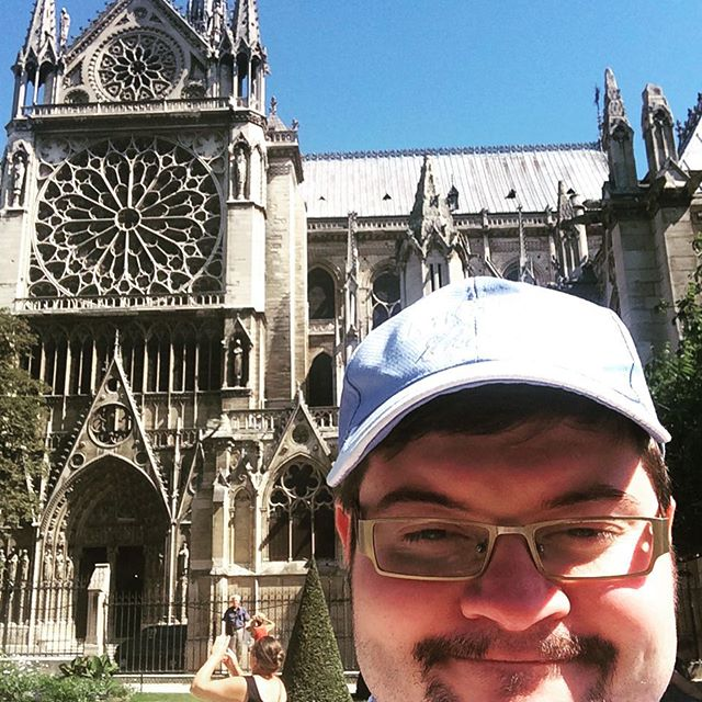 Notre Dame: ganz schön voll - via Instagram