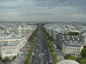 Champs-Elysées, mit Abstand betrachtet