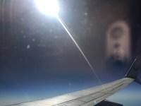 Flying through the air...