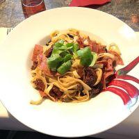 Tagliatelle al Pomodori Secchi (oder so)  #Italian #foodporn - via Instagram