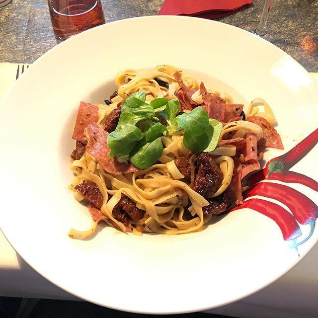 Tagliatelle al Pomodori Secchi (oder so)  #Italian <a rel=