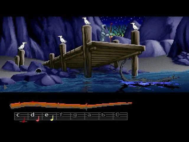 Loom i 256-färgers version (CD-Rom) på PC