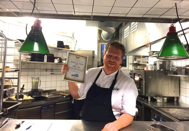 Daniel Räms, ena halvan av kock-duon som är Lilla Ego