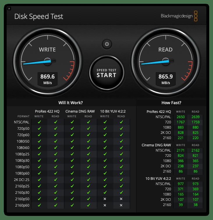 ADATA SE800 512GB usb-c Hastighet