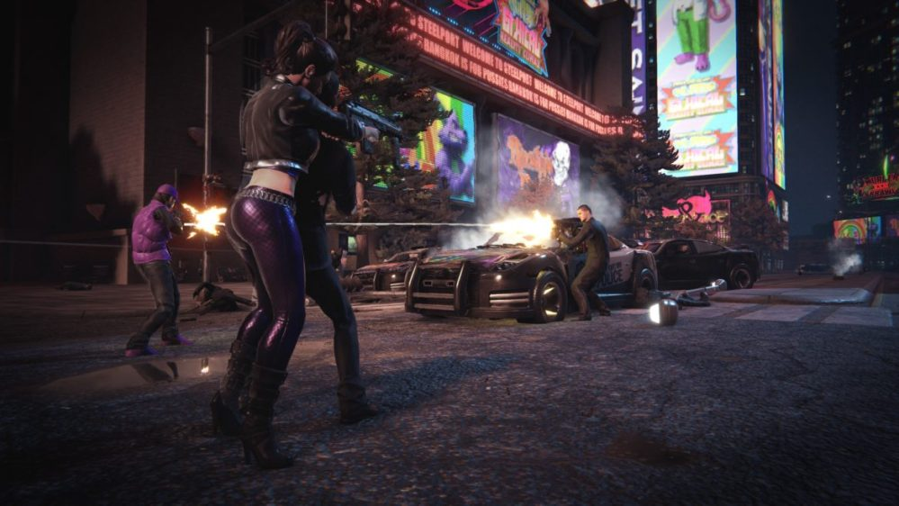 saints row the third remaster shoot out