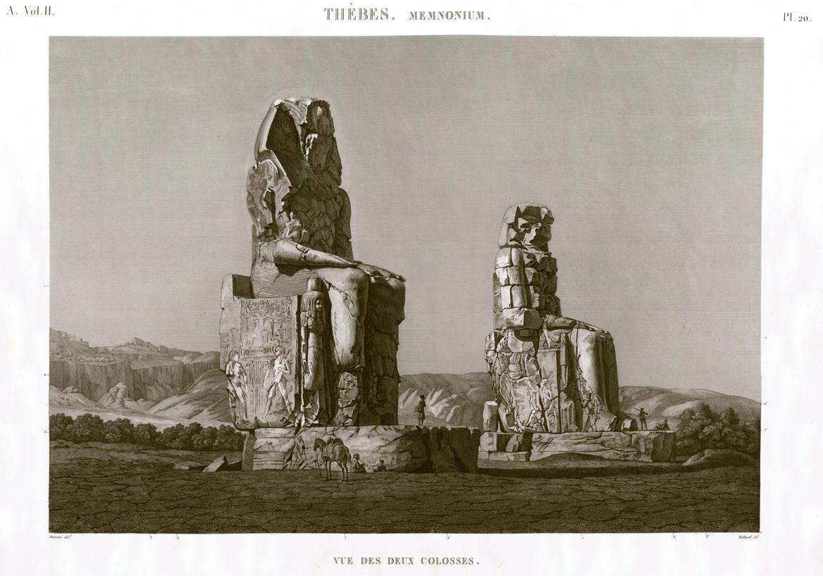 Colosses Description de l'Egypte Egypt Thebes