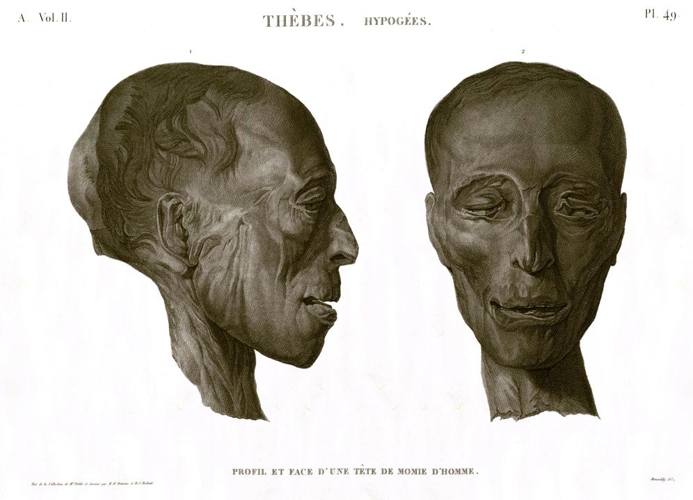 man mummy head