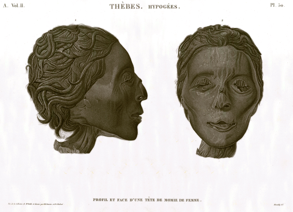 woman mummy head